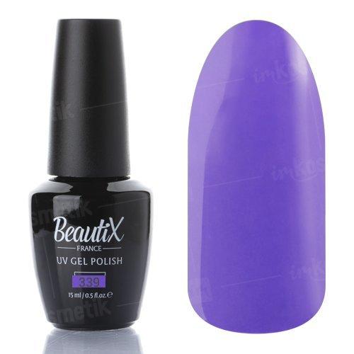 Beautix, Гель-лак №339 (15 мл.)Beautix<br>Гель-лак, сиреневый, глянцевый, плотный<br>