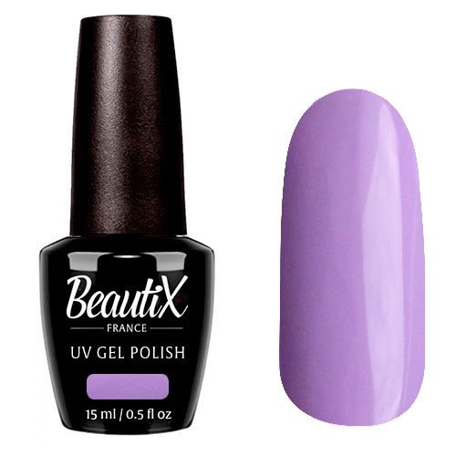 Beautix, Гель-лак №344 (15 мл.)Beautix<br>Гель-лак, сиреневый, глянцевый, плотный<br>