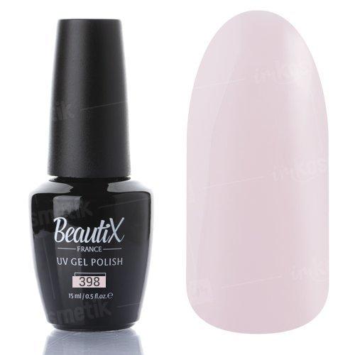 Beautix, Гель-лак №398 (15 мл.)Beautix<br>Гель-лак, нежный молочно-розовый, глянцевый, плотный<br>