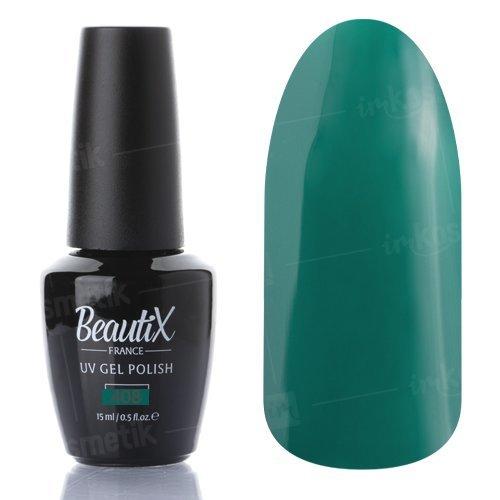 Beautix, Гель-лак №408 (15 мл.)Beautix<br>Гель-лак, зеленый, глянцевый, плотный<br>