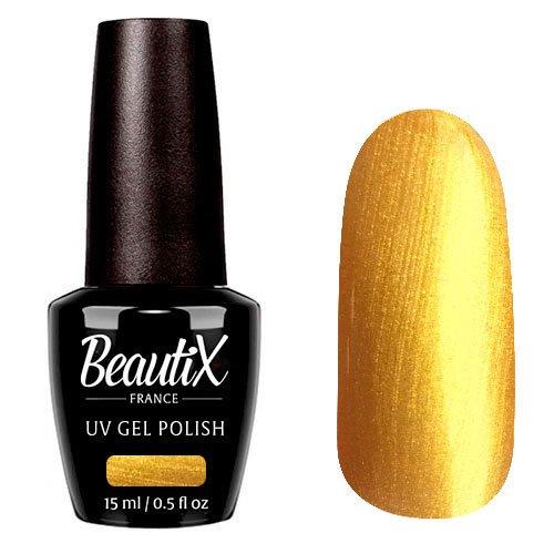 Beautix, Гель-лак №605 (15 мл.)Beautix<br>Гель-лак, золотой, глянцевый, с микроперламутром, плотный<br>