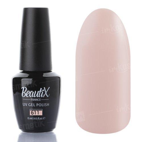 Beautix, Гель-лак №611 (15 мл.)Beautix<br>Гель-лак, светло-бежевый, глянцевый, плотный<br>