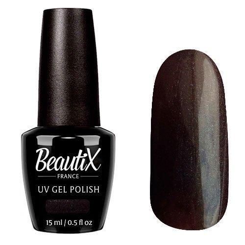Beautix, Гель-лак №613 (15 мл.)Beautix<br>Гель-лак, горький шоколад, глянцевый, с микроперламутром, плотный<br>