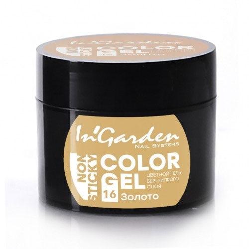 InGarden, Гель-краска для ногтей № 16, 5 гГель краски InGarden<br>Цветная гель-краска без липкого слоя. Подходит для всех видов дизайна<br>