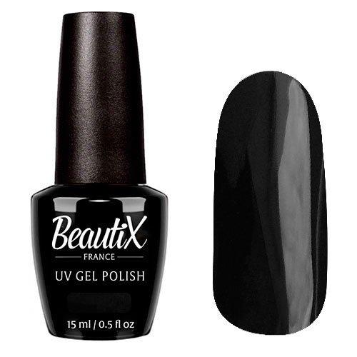 Beautix, Гель-лак №702 (15 мл.)Beautix<br>Гель-лак, классический черный, глянцевый, плотный<br>