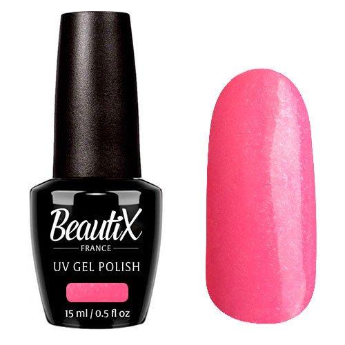 Beautix, Гель-лак №705 (15 мл.)Beautix<br>Гель-лак, розовый, глянцевый, с блестками, плотный<br>