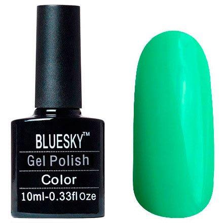 Bluesky, Шеллак цвет Z094 10mlBluesky 10 мл<br>Гель-лак зеленый, глянцевый, плотный<br>