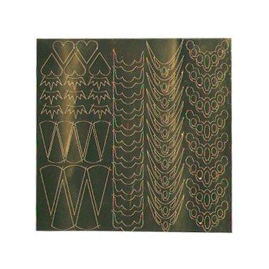 NelTes, Металлизированные наклейки для дизайна - Золото 1Металлизированные наклейки<br>Металлизированные наклейки для дизайна ногтей<br>
