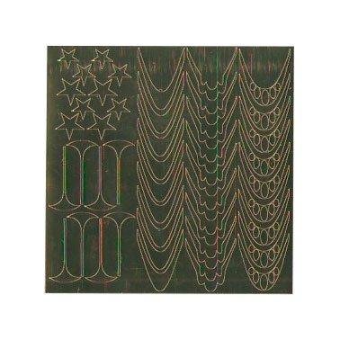 NelTes, Металлизированные наклейки для дизайна - Золото 4Металлизированные наклейки<br>Металлизированные наклейки для дизайна ногтей<br>