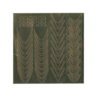 NelTes, Металлизированные наклейки для дизайна - Золото 5Металлизированные наклейки<br>Металлизированные наклейки для дизайна ногтей<br>