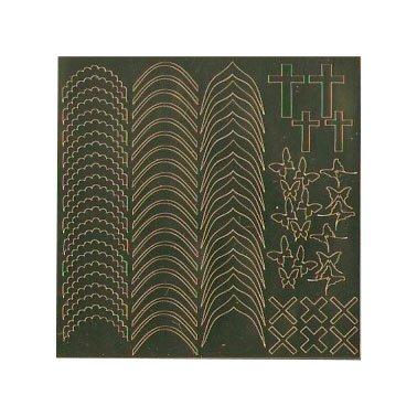 NelTes, Металлизированные наклейки для дизайна - Золото 6Металлизированные наклейки<br>Металлизированные наклейки для дизайна ногтей<br>