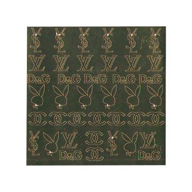 NelTes, Металлизированные наклейки для дизайна - Золото 10Металлизированные наклейки<br>Металлизированные наклейки для дизайна ногтей<br>