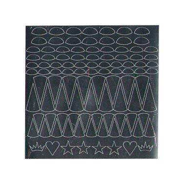 NelTes, Металлизированные наклейки для дизайна - Серебро 3Металлизированные наклейки<br>Металлизированные наклейки для дизайна ногтей<br>