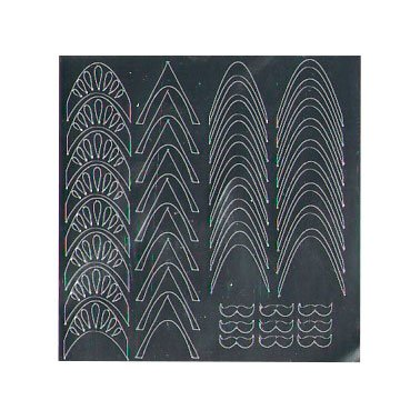 NelTes, Металлизированные наклейки для дизайна - Серебро 5Металлизированные наклейки<br>Металлизированные наклейки для дизайна ногтей<br>