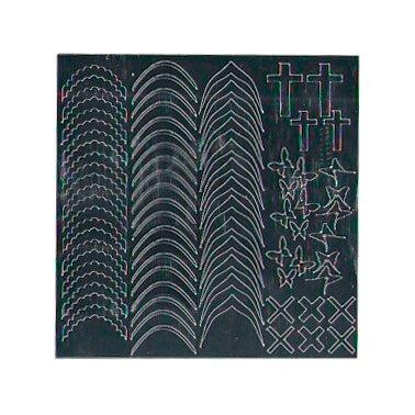 NelTes, Металлизированные наклейки для дизайна - Серебро 6Металлизированные наклейки<br>Металлизированные наклейки для дизайна ногтей<br>