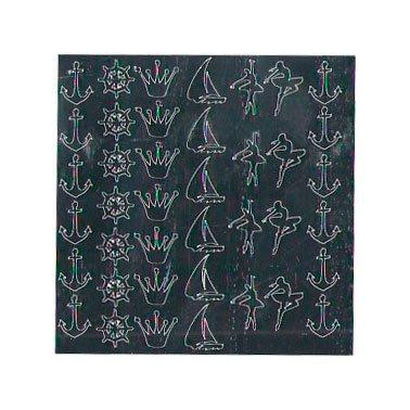 NelTes, Металлизированные наклейки для дизайна - Серебро 8Металлизированные наклейки<br>Металлизированные наклейки для дизайна ногтей<br>