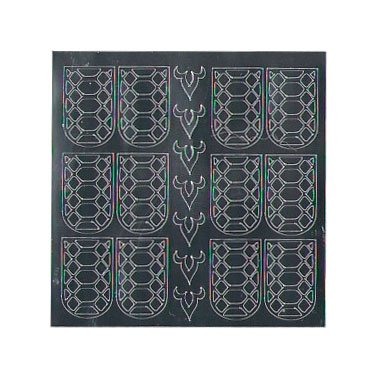 NelTes, Металлизированные наклейки для дизайна - Серебро 9Металлизированные наклейки<br>Металлизированные наклейки для дизайна ногтей<br>