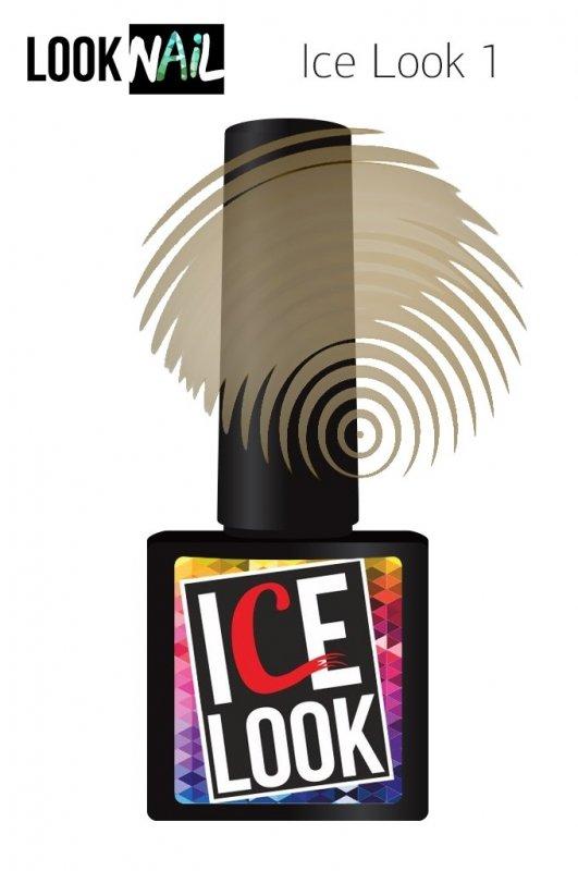 Look Nail, Ice Look - Гель-лак витражный №01 (10 ml.)Look Nail<br>Гель-лак витражный, бежевый подтон, прозрачный<br>