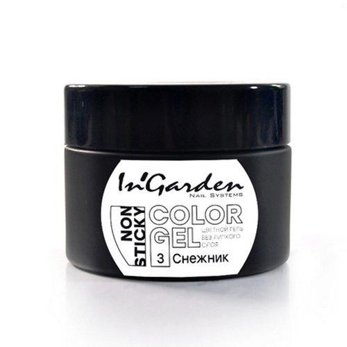 InGarden, Гель-краска для ногтей № 03, 5 гГель краски InGarden<br>Цветная гель-краска без липкого слоя. Подходит для всех видов дизайна<br>