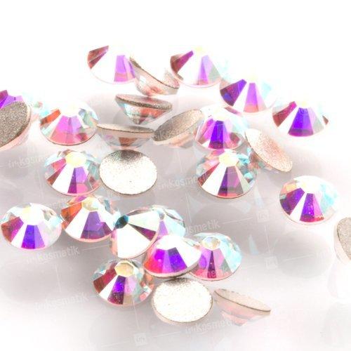 Swarovski Elements, Cтразы Crystal Aurore Boreale 1,8 мм (30 шт)Стразы<br>Swarovski Elements диаметром 1,8 мм для неповторимого, сияющего маникюра.<br>