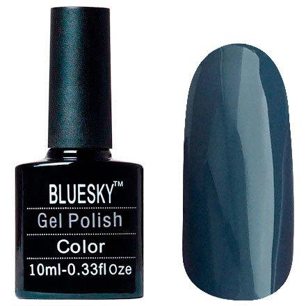 Bluesky, Шеллак цвет № 80627 Denim Patch 10mlBluesky 10 мл<br>Гель-лаксеро-голубой, глянцевый,плотный.<br>