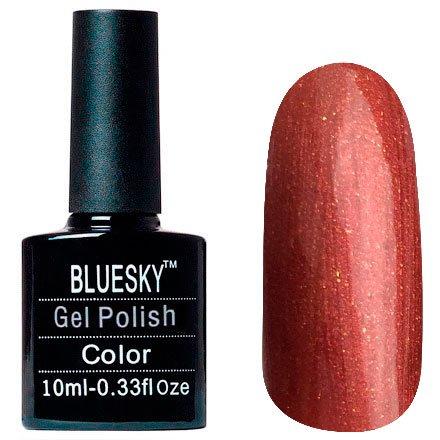 Bluesky, Шеллак цвет № 80630 Hand Fired 10mlBluesky 10 мл<br>Гель-лак медно-красный, с золотистым шиммером,плотный.<br>