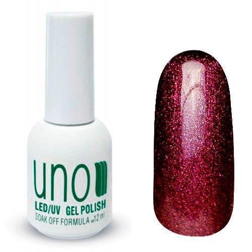 Uno, Гель-лак Red Tourmaline - Красный турмалин №026 (12 мл.)Uno <br>Гель лак,коричнево-бордовый, с микроблестками, глянцевый,плотный.<br>