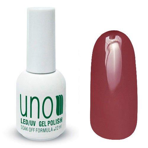 Uno, Гель-лак Riga - Рига №037 (12 мл.)Uno <br>Гель лак, шоколадно-вишневого цвета, без блесток и перламутра,плотный.<br>