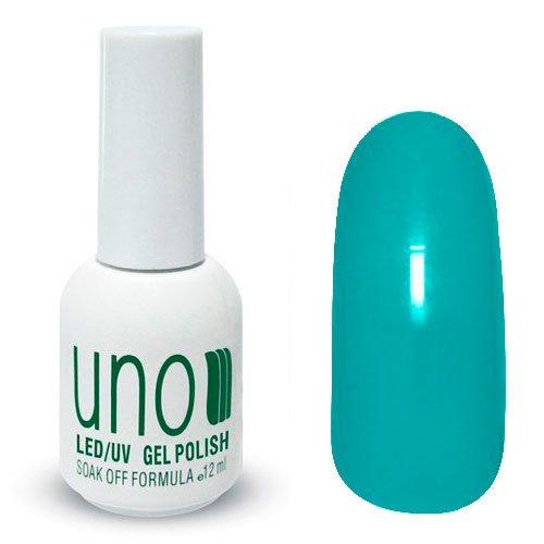 Uno, Гель-лак Aquamarine - Аквамарин №038 (12 мл.)Uno <br>Гель лак, светлый зелено-синий, без блесток и перламутра,плотный.<br>