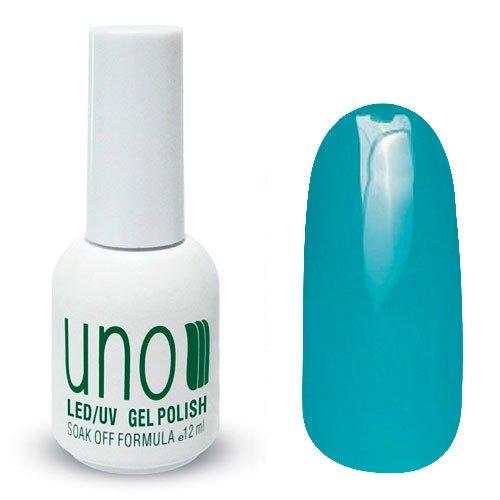 Uno, Гель-лак Misty Turquoise - Туманная бирюза №149 (12 мл.)Uno <br>Гель лак, серо-голубой,без мерцания и перламутра,плотный.<br>