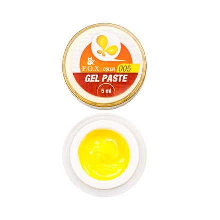 F.O.X, Гель-паста с липким слоем №005 (5 ml.)Гель-паста F.O.X<br>Идеальная консистенция для получения объемных линий при дизайне ногтя.<br>