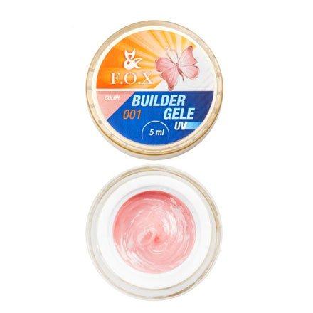 F.O.X, Строительный гель-желе Gele Builder Gel №001 (5 ml.)Гели F.O.X<br>Вязкое гель-желе. Отлично держит сложную форму до полимеризации.<br>