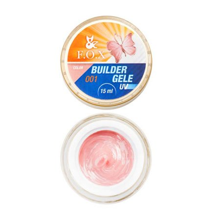F.O.X, Строительный гель-желе Gele Builder Gel №001 (15 ml.)Гели F.O.X<br>Вязкое гель-желе. Отлично держит сложную форму до полимеризации.<br>
