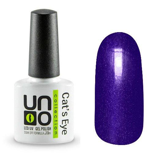 Uno, Гель-лак Cats eye - №30 (10мл.)Uno <br>Гель-лак сине-фиолетового цвета с эффектом Кошачий глаз. Перламутровый,плотный.<br>