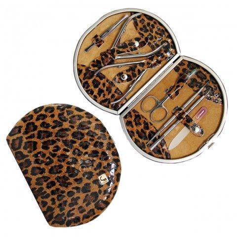 Staleks, Набор маникюрный Рамка Профессиональная НМ-07/1 (Леопард лаковый)Инструменты для педикюра<br>Маникюрно-педикюрный набор Рамка Профессиональная (Леопард лаковый)<br>