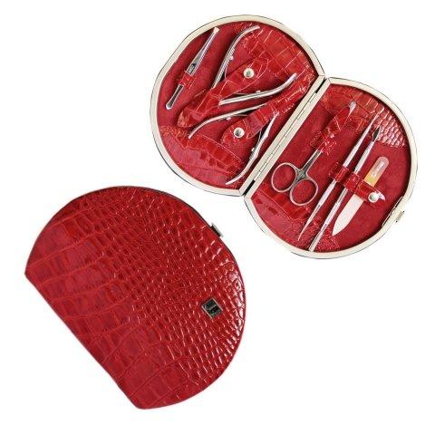Staleks, Набор маникюрный - Рамка Профессиональная НМ-07-1 (Крокодил красный лак.)Инструменты для педикюра<br>Маникюрно-педикюрный набор Рамка Профессиональная (Крокодил красный лаковый)<br>