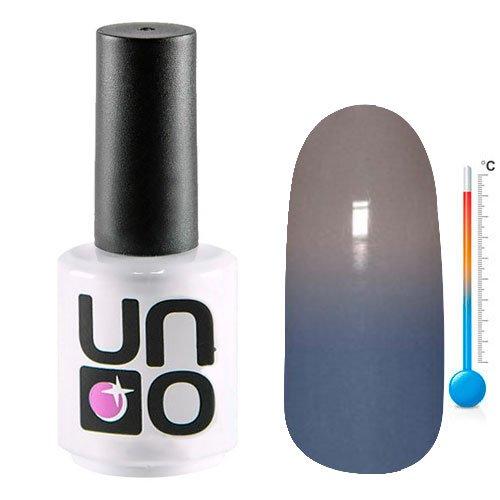 Uno, Термо гель-лак T05 (15мл.)Uno <br>Термо гель-лак, меняющий цвет с сиреневого на серый, плотный.<br>