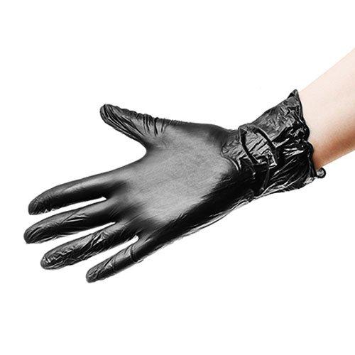 Benovy, Перчатки виниловые, черные (Размер S, 10 шт.)Перчатки<br>Перчатки виниловые одноразовые, размер S<br>