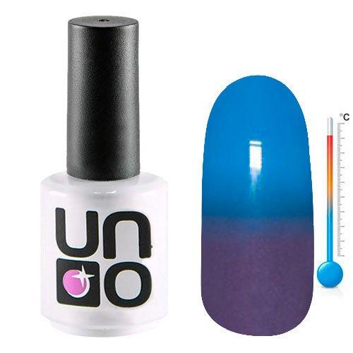 Uno, Термо гель-лак T21 (15мл.)Uno <br>Термо гель-лак,меняющий цвет с ярко-синего на фиолетовый, плотный.<br>