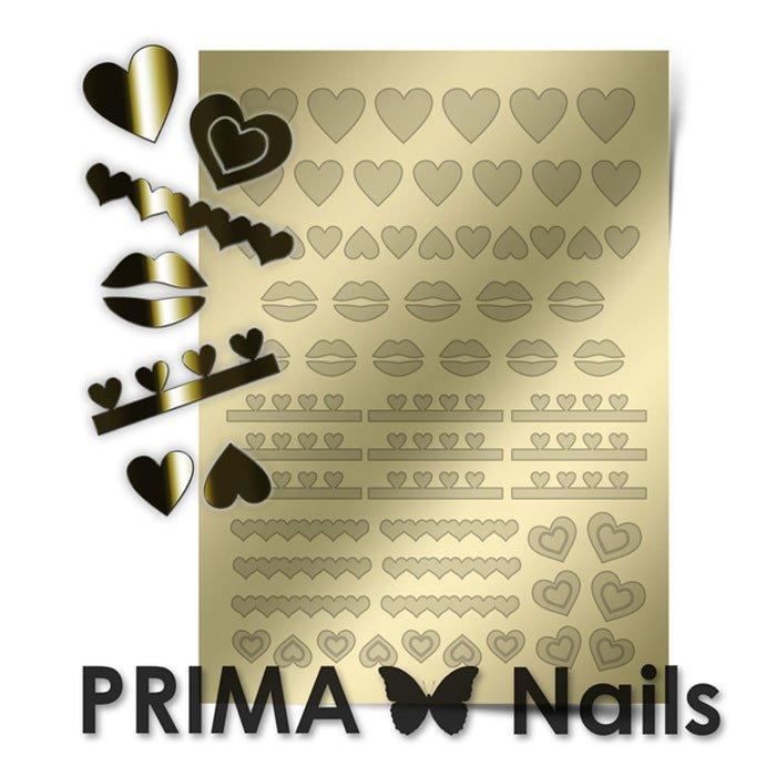 PrimaNails, Металлизированные наклейки для дизайна LV-01, ЗолотоМеталлизированные наклейки<br>Металлизированные наклейки PRIMA NAILS - модный тренд в дизайне ногтей, который актуален для любого сезона!<br>