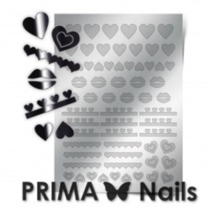 PrimaNails, Металлизированные наклейки для дизайна LV-01, СереброМеталлизированные наклейки<br>Металлизированные наклейки PRIMA NAILS - модный тренд в дизайне ногтей, который актуален для любого сезона!<br>