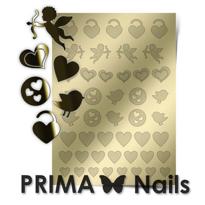 PrimaNails, Металлизированные наклейки для дизайна LV-02, ЗолотоМеталлизированные наклейки<br>Металлизированные наклейки PRIMA NAILS - модный тренд в дизайне ногтей, который актуален для любого сезона!<br>