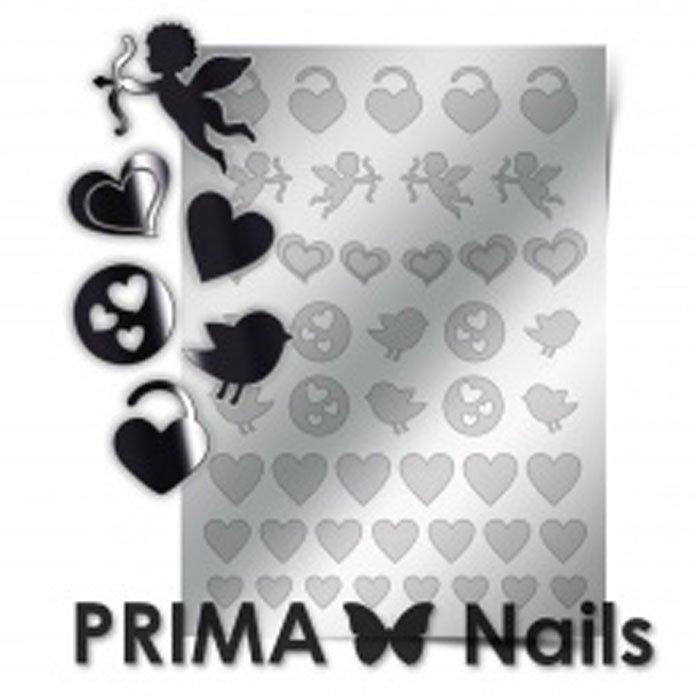 PrimaNails, Металлизированные наклейки для дизайна LV-02, СереброМеталлизированные наклейки<br>Металлизированные наклейки PRIMA NAILS - модный тренд в дизайне ногтей, который актуален для любого сезона!<br>