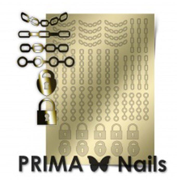 PrimaNails, Металлизированные наклейки для дизайна UZ-01, ЗолотоМеталлизированные наклейки<br>Металлизированные наклейки PRIMA NAILS - модный тренд в дизайне ногтей, который актуален для любого сезона!<br>