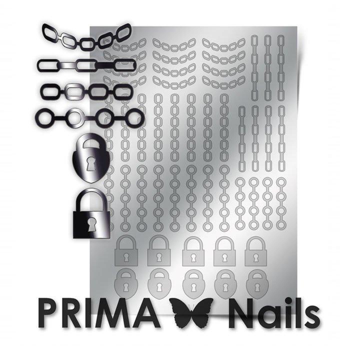PrimaNails, Металлизированные наклейки для дизайна UZ-01, СереброМеталлизированные наклейки<br>Металлизированные наклейки PRIMA NAILS - модный тренд в дизайне ногтей, который актуален для любого сезона!<br>