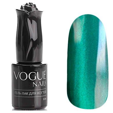 Vogue Nails, Гель-лак кошачий глаз - Благородный изумруд №010 (10 мл.)Vogue Nails<br>Гель-лак,изумрудный зеленыйс эффектом кошачий глаз, плотный<br>
