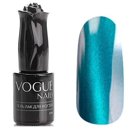 Vogue Nails, Гель-лак кошачий глаз - Морской аквамарин №011 (10 мл.)Vogue Nails<br>Гель-лак,темно-бирюзовый с эффектом кошачий глаз, плотный<br>