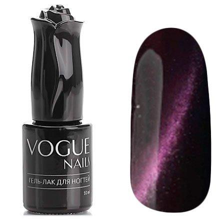 Vogue Nails, Гель-лак кошачий глаз - Ювелирный турмалин №033 (10 мл.)Vogue Nails<br>Гель-лак,баклажановый, перламутровый, плотный<br>
