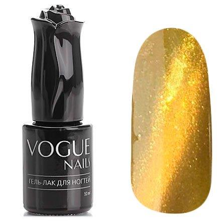 Vogue Nails, Гель-лак кошачий глаз - Золотая лихорадка №031 (10 мл.)Vogue Nails<br>Гель-лак, яркий золотой с мерцанием,плотный<br>