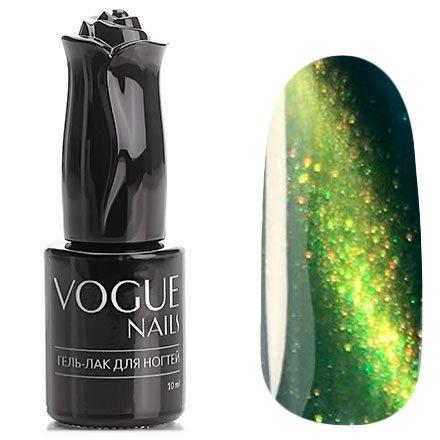 Vogue Nails, Гель-лак кошачий глаз - Драгоценный дождь №025 (10 мл.)Vogue Nails<br>Гель-лак, сине-зеленый,с золотистым перламутром, полупрозрачный<br>